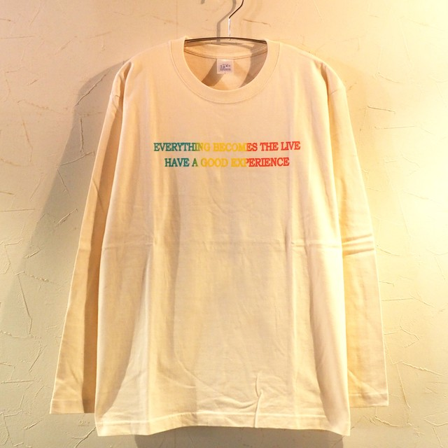 【一点物】Everything becomes the live Long Sleeve Natural Lサイズ
