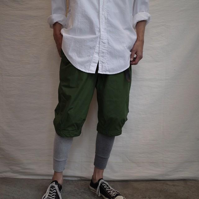 SASSAFRAS(ササフラス) / Sprayer Stream Pants 1/2 -Olive-