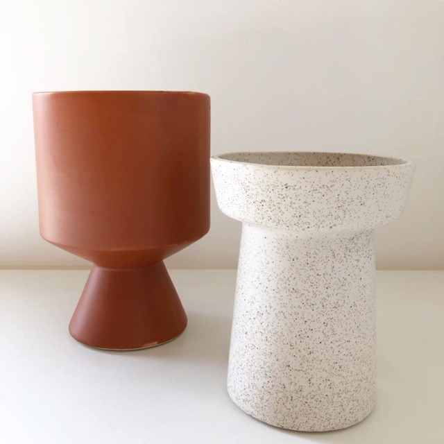"ceramic pot FARM ""BERTA"" /Brown 鉢カバー"