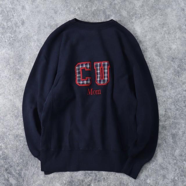90年代 USA製 チャンピオン REVERSE WEAVE リバースウィーブ メンズL ネイビー 刺繡タグ古着 A142