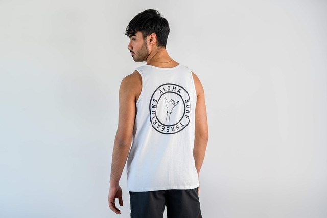 ThreeArrows ALOHA SURF Sleeveless (white)