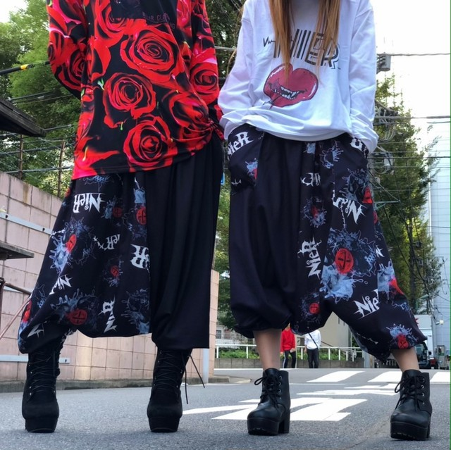 TWO-TONE  SARROUEL PANTS【Heart beat】