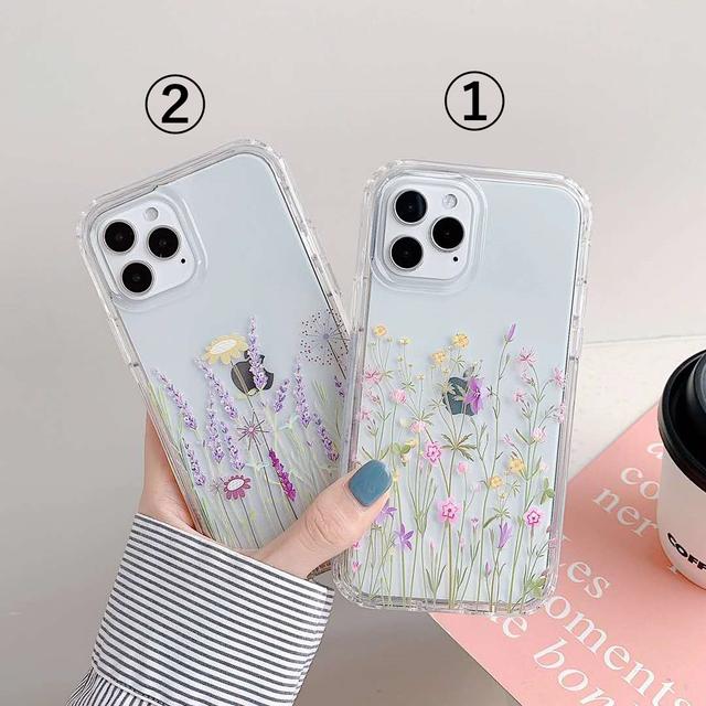 iphoneケース スマホケース 韓国 phone11 おしゃれ お花 フラワー menew