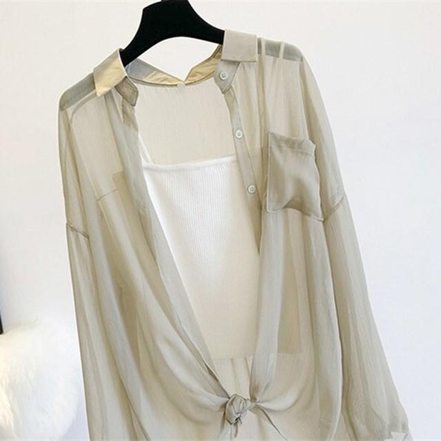 シアーシャツブラウス*BL2020056o