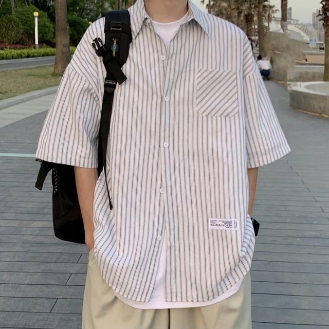 [新商品] front tag stripe shirt PD2842