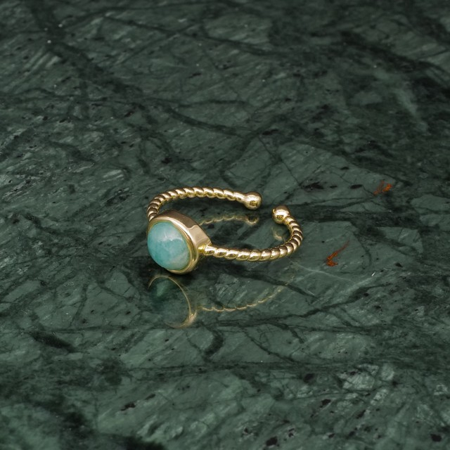 SINGLE MINI STONE RING GOLD 029