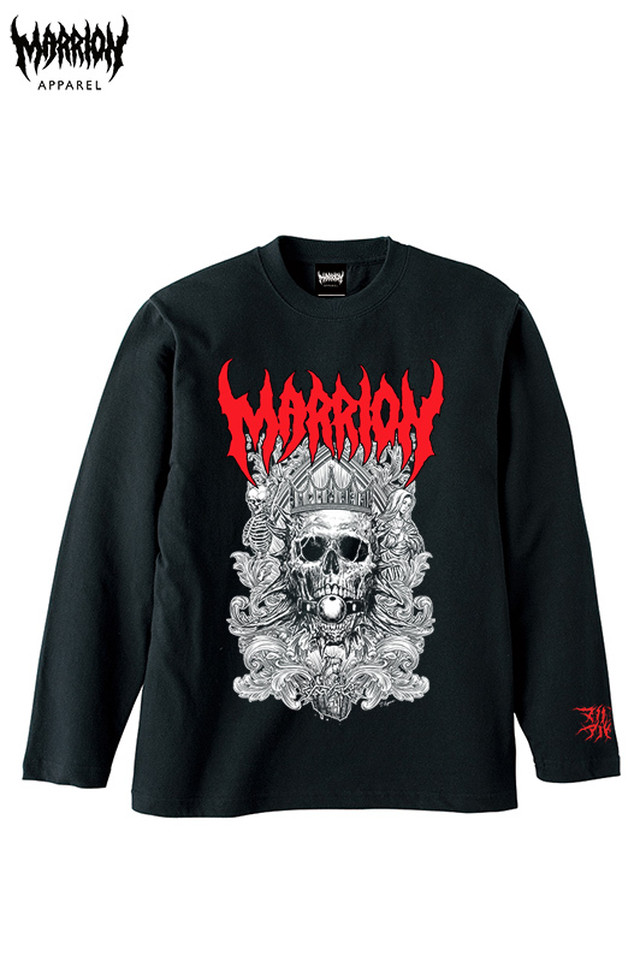 Death Marrion Long Sleeve Tee (Logo Red)