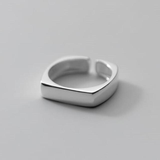 レクタングルリング | 指輪 | シンプル | シルバー925 | レディース | 金属アレルギー