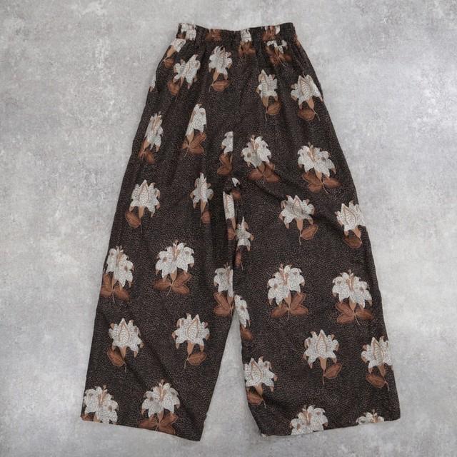 made in Japan flower retro pants