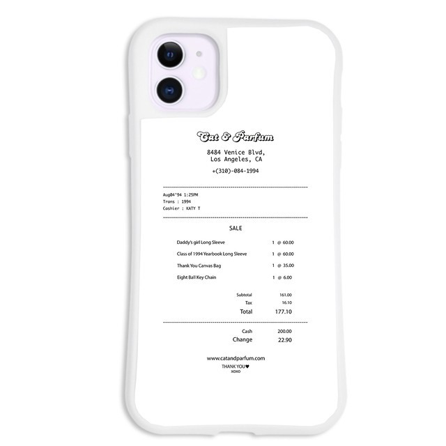 【Cat & Parfum】Shop Receipt iPhone Case