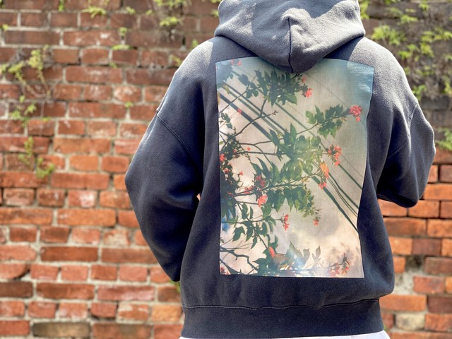 ESSENTIALS FLOWERS PHOTO HOODIE BLACK XS 65JE6128