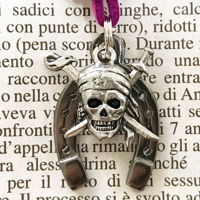 ◆幸運の馬蹄アクセサリー◆ 魔除け(まよけ・マヨケ)4 海賊ドクロ 「魔除け・仕事運」