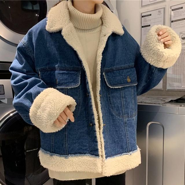 【outer】韓国系合わせやすいデニムお流行りコート