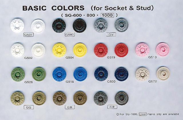 プラスチックホック サングリップ SG1000 18mmキャップ 全色 4点x20セット入り