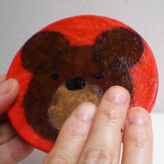 和紙でつくる【クマさんのコースター】キット