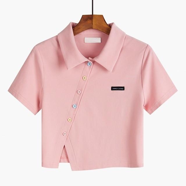 アシンメトリーショートポロシャツ B210504