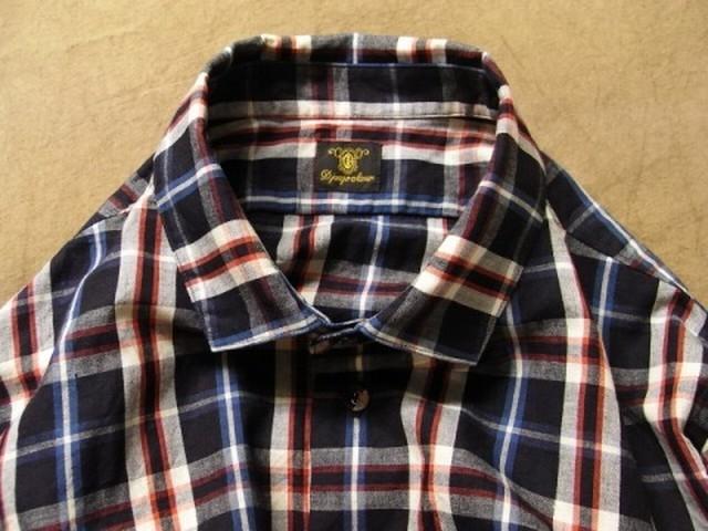 classic check shirt / navycheck