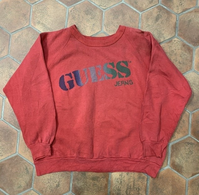 80s guess ロゴスウェット