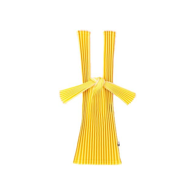kna plus PLECO プリーツバッグ mini エコバッグ 菜花色yellow