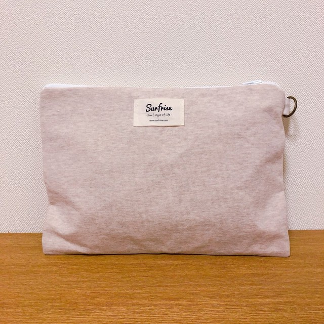 Sweat clutch bag - Beige