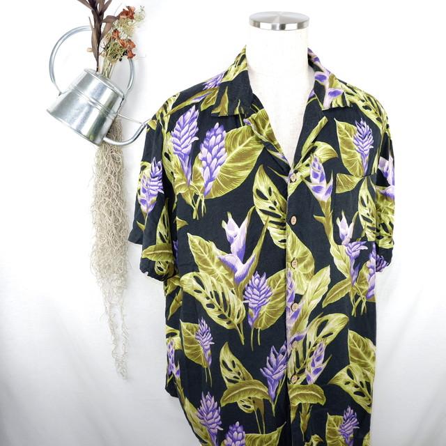 [XL] KING SIZE Rayon Open Collar Shirt | キングサイズ レーヨン 開襟 半袖シャツ