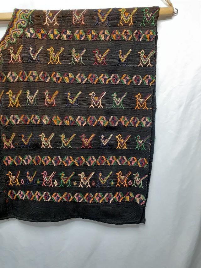 民族衣装ウイピル(動物・茶色)(グアテマラ)