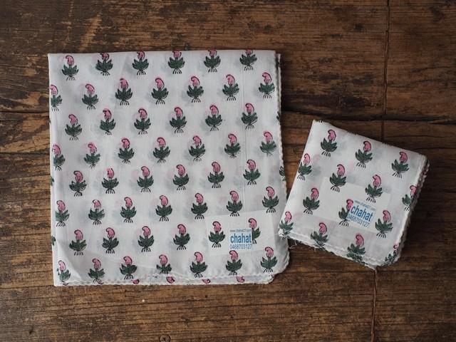 156ri049 Block Print Handkerchief a12