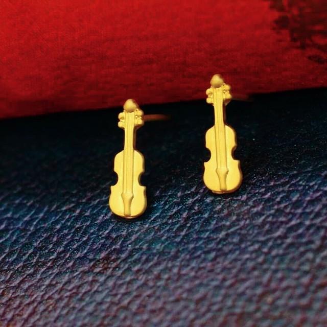 バイオリンピアス:楽器ピアス:浜松雑貨屋 C0pernicus