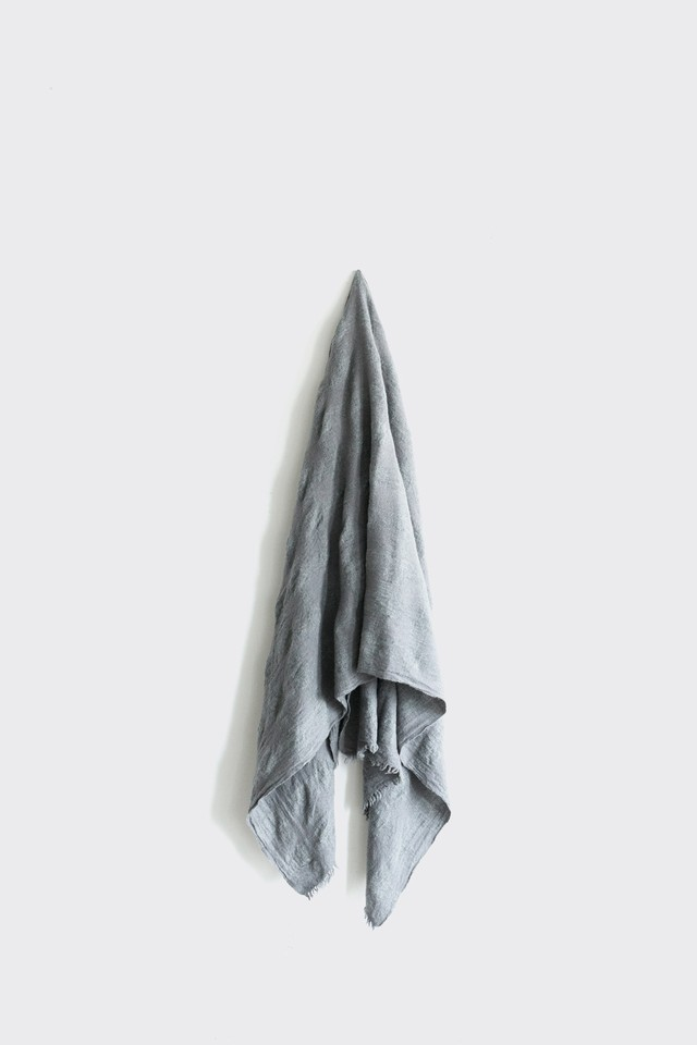 0131-1 mix gingham stole / gray