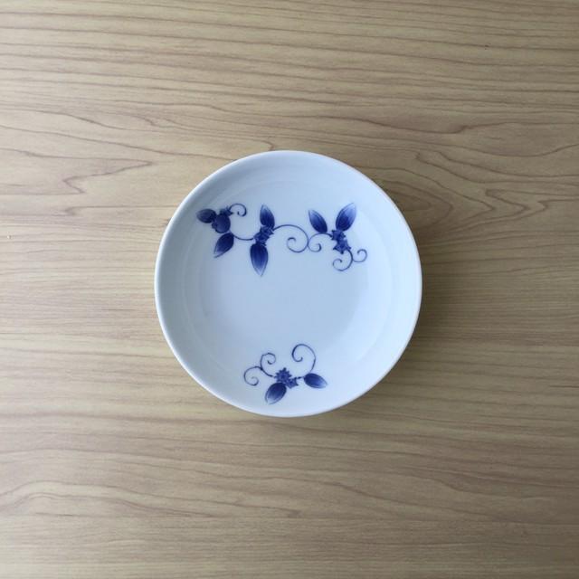 【吉田焼】染付棗唐草 13cm丸皿