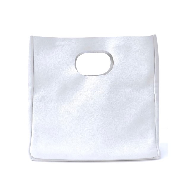 Box Leather Bag + Strap/WHITE