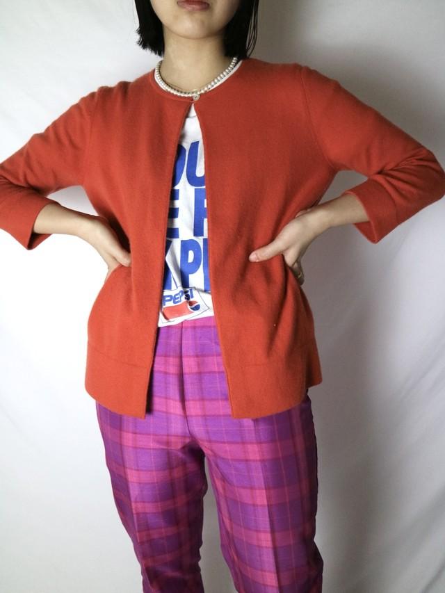 color cashmere cardigan 【0689】