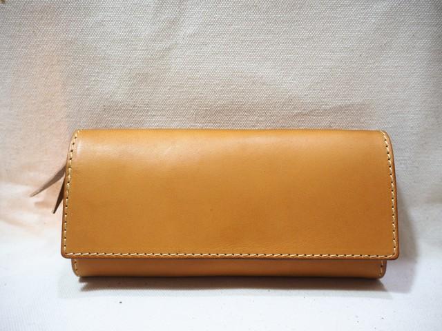 かぶせの定番長財布 / wallet キャメル