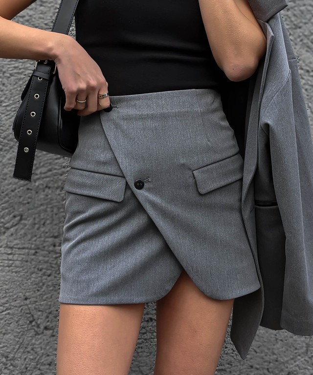 Front cut wrap skirt