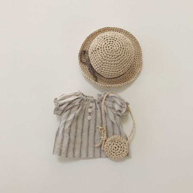 メルちゃんのお洋服 : 麦わら帽子とワンピースのセット