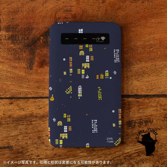 iphone モバイルバッテリー かわいい スマホ 充電器 持ち運び モバイルバッテリー 可愛い iphone 携帯充電器 アンドロイド かわいい usb 夜空 夜のおはなし/Bitte Mitte!