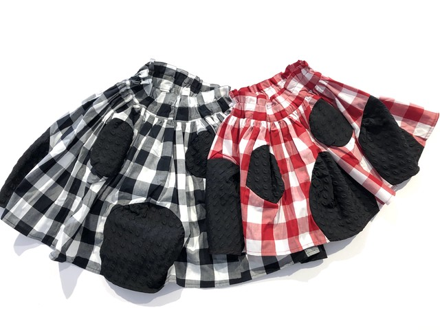 【19AW】フランキーグロウ ( franky grow ) SWITCHING DOTS DM SKIRT [ S / M / L ]