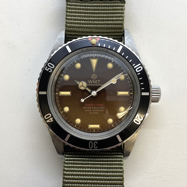 W.MT WATCH SEA DIVER Small Crown FROGAMAN TROPICAL (AGED CASE,HANS)  WMT170-05
