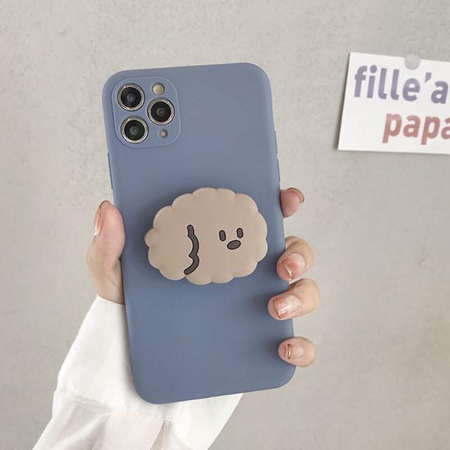 【送料無料】キュート♪ドッグスタンドiPhoneケース♡スマートフォンケース スタンド付き