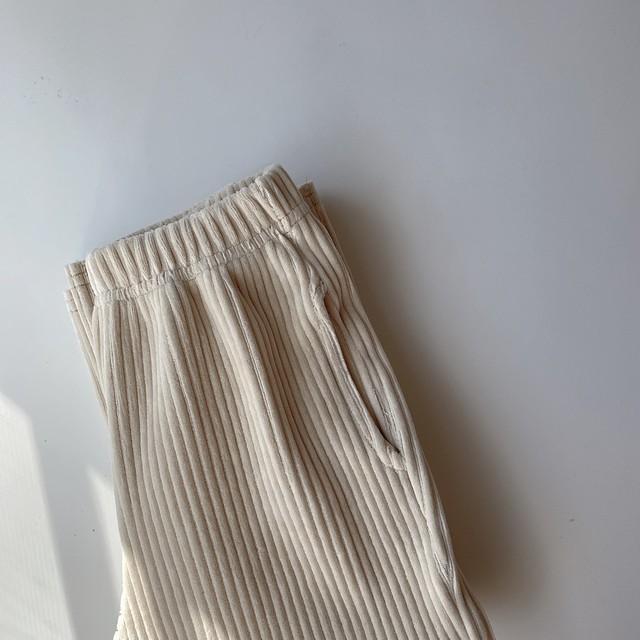 corduroy knit pants /beige