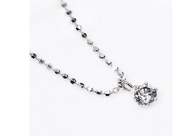 プラチナ900台 0.2ct ダイヤモンド クロス ペンダント ネックレス