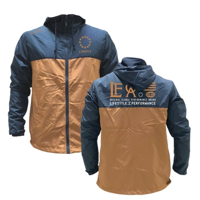 LIVE FIT Hardline Windbreaker- Navy/Copper