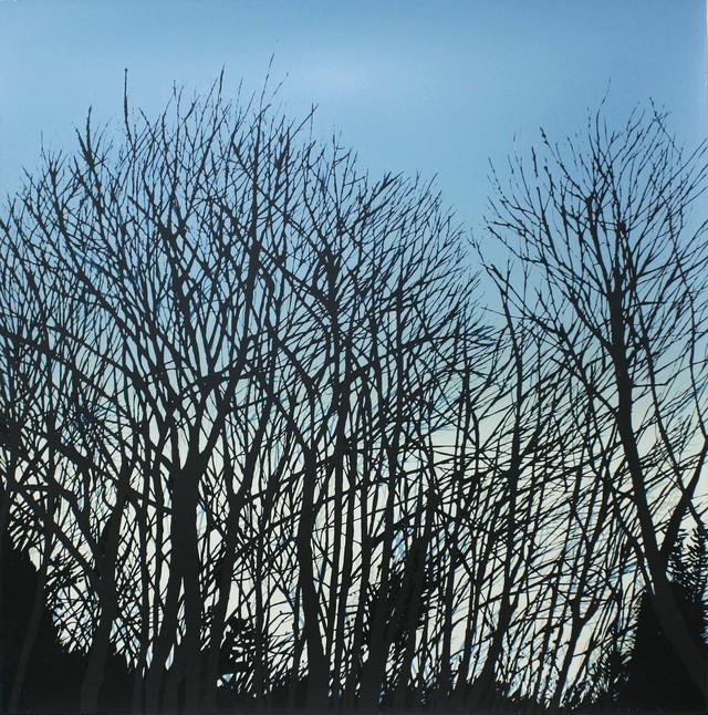 門馬 英美 / 「When I colse my eyes, I rememmber this trees.」/ シルクスクリーン/ シート