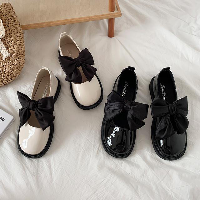 ダイヤ靴 パンプス リボン付きシューズ SHS582705