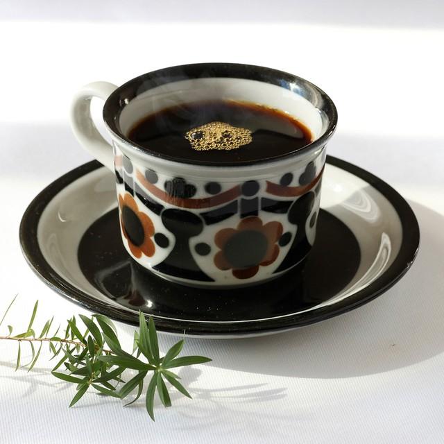 ARABIA アラビア Ruska ルスカ 70mm コーヒーカップ&ソーサー - 13 北欧ヴィンテージ