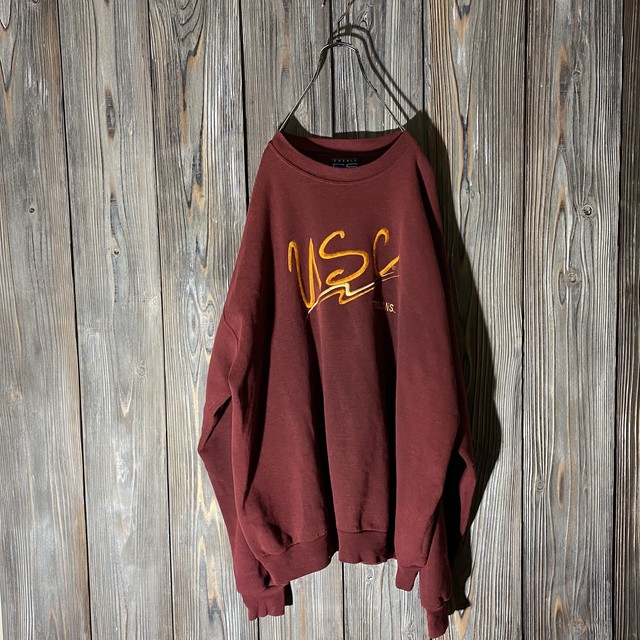 [used]USC wine red sweat