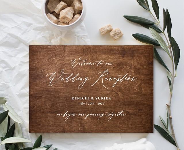 《ウッド》カリグラフィー ウェディング 結婚式 ウェルカムボード