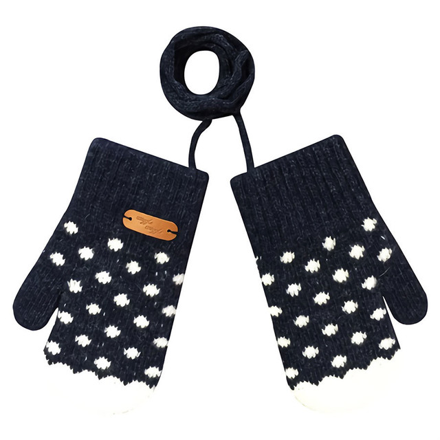 Kids Gloves - Dancing Dot (NAVY)