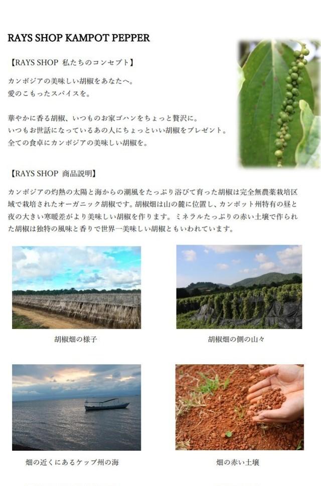 カンポットペッパー赤胡椒50g【粗挽き】