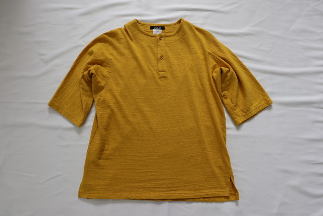 LOLO 【ロロ】ドルマンスリーブ 5分袖 Tシャツ イエロー